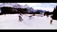 Зимни скокове със snowbike