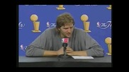 Dirk Nowitzki Kills Bug At Press Conference