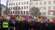 Germany: Pro-Kurdish protesters rally in solidarity with victims of Ankara attack