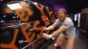 Wwe Raw Даниел Брайън Надрасква и Сасипва Hовата Кола на Ренди Ортън 27.08.2013 Бг Субтитри