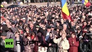 Moldova: Arrest made as protesters collect signatures for presidential vote