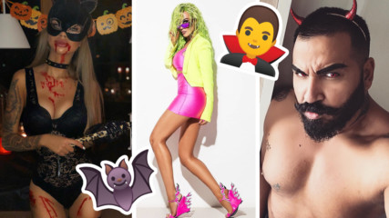 Поп-фолк вампирки в Instagram: Как се маскираха Галена, Сузанита, Алисия?