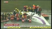 Самолетна катастрофа в Тайван се е разбил в река Кийлинг в столицата Тайпей