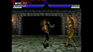 Mortal Kombat 4 - Scorpion & Reptile Gameplay