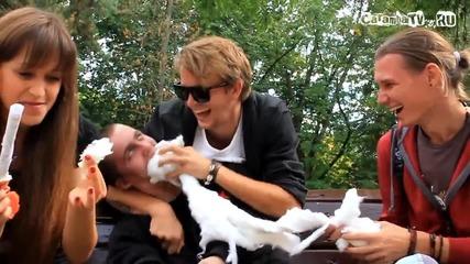 Забавление по руски - Шоу Идиоти - Битка с памук