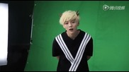 Lu Han micro-channel real look behind the scenes [鹿晗微信真人表情幕後花絮/150721]