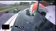 F1 Гран при на Бразилия 2012 - кадри от болида на Senna при инцидента с Vettel [hd][onboard]