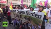 Germany: Scuffles break out at pro-Kurdish rally in Frankfurt