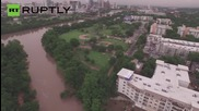 Drone Footage Captures Flood Devastation Ravaging Texas and Oklahoma
