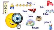 Уча.се - Множествено число -S или -ES. Числата 1-12 - Английски език начално ниво - 2 клас