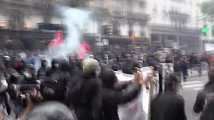 France: Molotov Cocktails fly at explosive labour reform protest in Paris
