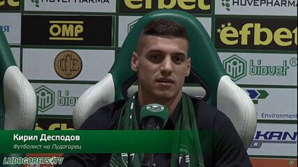 Представяне на Кирил Десподов като нов футболист на Лудогорец