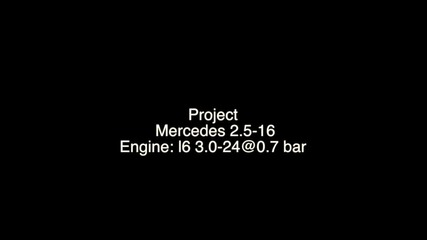 Mercedes 190e 3.0-24v @ 0.7 bar - Dyno