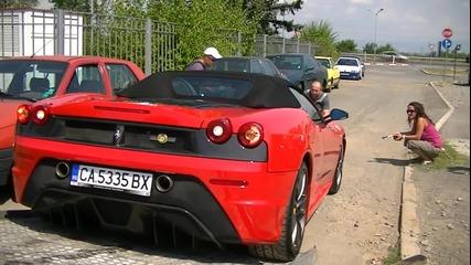 Единственото Ferrari 430 scuderia 16m в България ! + Звук !