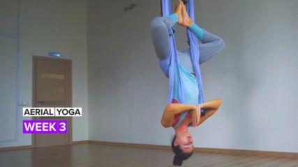 This is week three of your aerial yoga journey