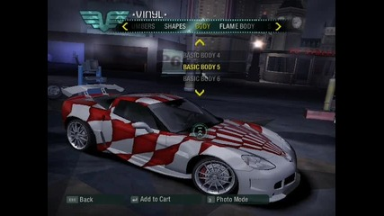 Need For Speed Carbon Chevrolet Corvvette Z06 Tuning