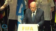 Israeli and Palestinian FIFA Delegates Shake Hands