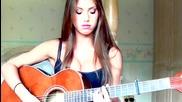 Красиво момиче изпълнява много добър кавър на My Hero - Foo Fighters