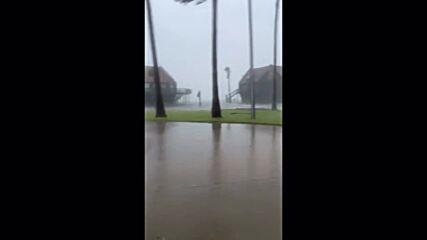 USA: Extreme winds, heavy rain as Hurricane Nicholas hits Texas beach