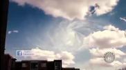 Какво се случва с адронния колайдер? Туристи заснеха мистериозни облаци и Нло над инсталацията