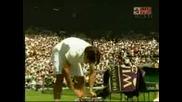 Wimbledon - Federer - Hrbaty - 6:2 Трети Сет!