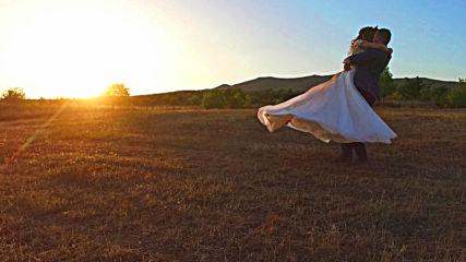Сватба в лозите, заснета с дрон