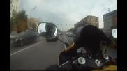 Откачен руснак в трафик, с мотор... (ей тоя е пич!)
