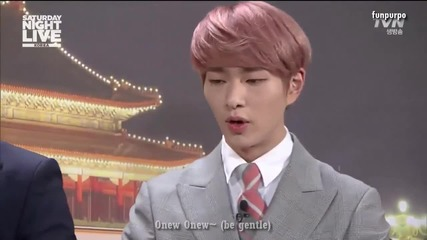 [eng subs] Shinee [snl Korea - global weekend] part 1/2