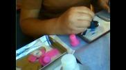 Видео урок за начинаещи-как да направим ноктите си с печати Конад