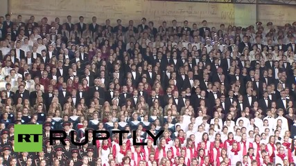 Russia: Massive choir sings to mark the Day of Slavic Writing and Culture