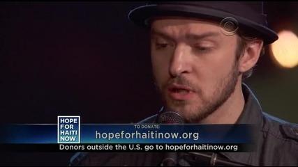 Justin Timberlake Ft. Charlie Sexton - Hallelujah (hope For Haiti)