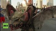 USA: Austin goes batty for mass bat flight