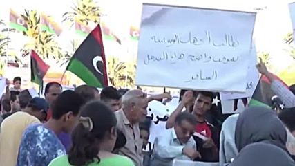 Libya: Protesters decry French airstrikes, covert military operation in Tripoli demo