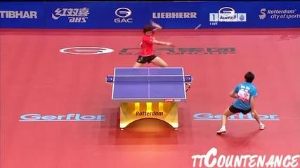 2011г.,тенис на маса,1/2-финал,жени,ли Шао Ша надделява над Гуо Юе
