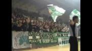 Панатинайкос - Есперидес (07.03.2009) - агитката на Пао на женски баскетбол !