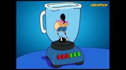 Joe Cartoon - Octomom in a Blender