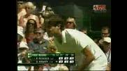 Wimbledon - Federer - Hrbaty - 5:1 Трети Сет
