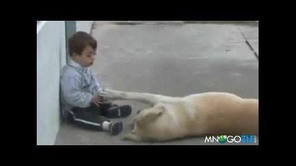 Куче и детенце болно от синдрома на Даун!