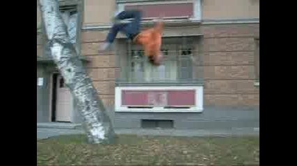 Parkour Boys Crew Jumping