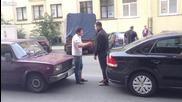 Сбиване между двама шофьори в Русия