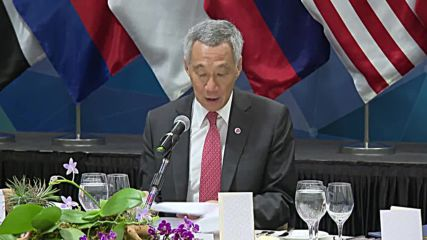 Singapore: Leaders sit down for working dinner at 33rd ASEAN summit