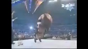 Brock Lesnar powerbombs Big Show