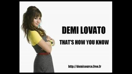 Demi Lovato - Thats how you know