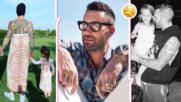 Адам Лавин от Maroon 5 облече рокля и се снима с дъщерите си