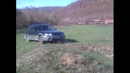 Стара речка - субару Аутбек -на поляната