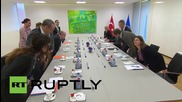 Belgium: Turkish FM and NATO head discuss alleged Russian violation of Turkish airspace
