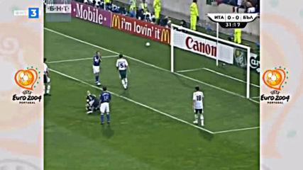 Италия - България Евро 2004 Първо полувреме