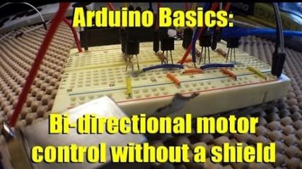 Arduino Basics Forward and reverse motor control