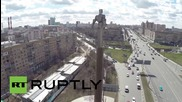 Russia: Drone captures Yuri Gagarin monument ahead of spaceflight anniversary