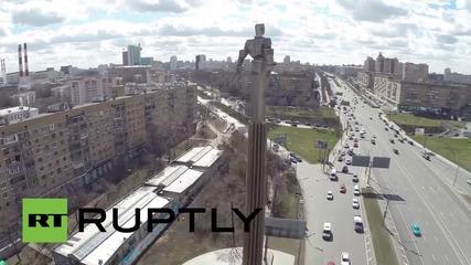 Russia: Drone captures Yuri Gagarin monument ahead of spaceflight anniversary